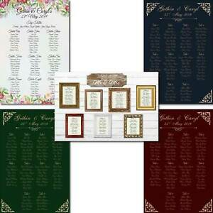 A1 Personalised Wedding Seating Table Planner Meeting Plan