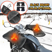 Motorcycle Handlebar Gloves Grip Muffs Mitts Warmer Thermal Waterproof Winter