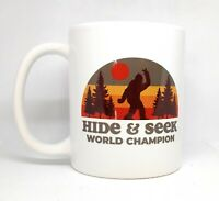 Bigfoot Hide And Seek World Champion Ceramic Mug | Coffee Cup | 11-Ounce Mug