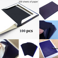 100X A5 Carbon Paper Sheets Hand Copy Typewriter Handwriting High Quality Blue