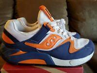 Saucony GRID 9000 Size US Men 8.5 Sneakers Shoes Running Blue Orange