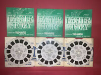 1950 THE EASTER STORY SAWYER'S VIEW MASTER: BOOKLET, SLEEVE 3 REELS #EA 1, 2, 3