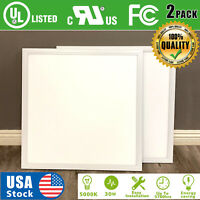 USA 2PACK 2x2ft LED Panel Light 30W 5000K Troffer Recessed Ceiling White