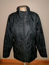 UNDER AMOUR LADIES BLACK PUFFER SKI JACKET VEST WINTER XL LIGHT WEIGHT COAT