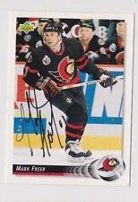 92/93 Upper Deck Mark Freer Ottawa Senators Autographed Hockey Card