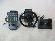 Saitek Farming Simulator Controller Steering Wheel Peddles Control Panel 43216