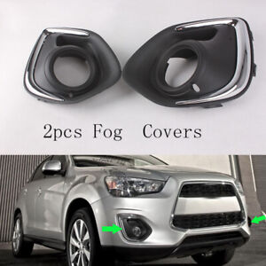2x For Mitsubishi Outlander Sport ASX 2013-2015 Front Left Right Fog Light Cover