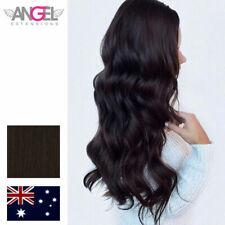 "Angel Slimline Human Hair Extensions 3x9cm 2 Espresso 10 Tapes 24"""