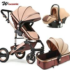 Wisesonle baby stroller 2 in 1 stroller lying or dampening folding light weight
