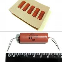 0.47uF 470nF 200V K40Y-9 PIO Capacitors USSR Special Issue NOS Lot of 6pcs