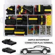 240Pcs 12V Car Electrical Wire Connectors Terminals Assortment Waterproof Set