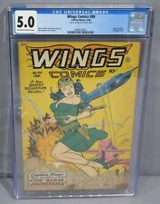 WINGS COMICS #90 (Lingerie panels, Bondage Cover) CGC 5.0 Fiction House 1948