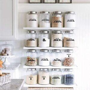 132pc Pantry Labels,Kitchen stickers,Jar Labels ,Food Labels,* READ DESCRI @RR