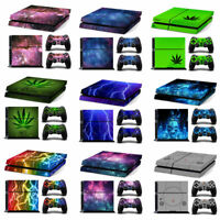 Sticker Skin for Sony Playstation 4 Console & 2 PS4 Dualshock Controllers Decal