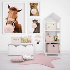 designbomb® Lustige Tiere mit Kaugummi Baby & Kinderzimmer Poster / Plakate V3