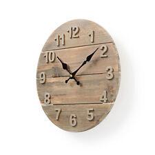 30 cm Wanduhr aus Holz,Design Retro rustikal  große Zahlen