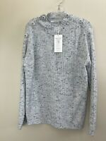 Beatrix Ost Cloud Gray Blue Sweater Women's Size Small