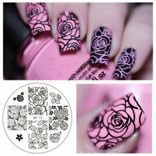 Born Pretty Nail Art Stamping Plate Rose Flower Image Stamp Nails Templates BP73