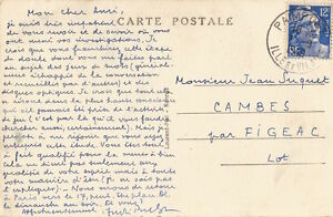 André BRETON Carte autographe signée à propos de M. DUCHAMP. Surréalisme 1949.