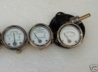 Allis Chalmers Temp+ Oil Pr+ Amp Gauge Set- WD45 Dsl, D15 Dsl, D17 Dsl, D19