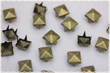 200pz 0,8cm  borchie sfuse a piramide colore bronzo*loose pyramid studs bronze