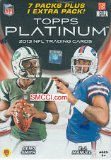2013 Topps PLATINUM NFL Football Blaster Box possible Rookies Autographs Patches