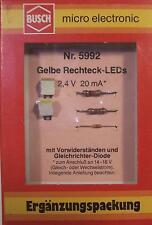Vintage HO N Z Any scale BUSCH 5992 Yellow Oblong LEDs NIB