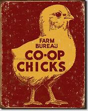Farm Bureau Co-Op Chicks Metal Sign Tin New Vintage Style #1365