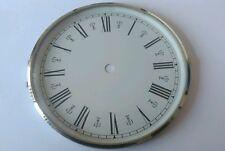 Chrome Clock Bezel and Glass 160mm Roman Dial