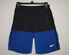 Nike Men's Shorts S Small Run Running EUC Black Blue Liner