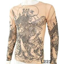 Immortal Dragon Tattoo Sport T-Shirt Tattoo Tops Biker Cycling Fitness Plus Size