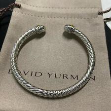 David Yurman 5 mm Cable Cuff Bracelet with (750)18K gold