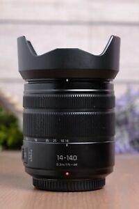 Panasonic H-FS14140K 14-140mm f/3.5-5.6 Power O.I.S. Lens w/Both Caps and Hood