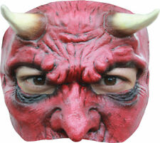 Morris Costumes Men's New Halloween Devil Latex Half Mask One Size. TB27618