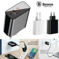 Baseus 45W Quick Charging Adapter 4.0 3.0 PD 3.0 USB + Type-C Super Fast Charger