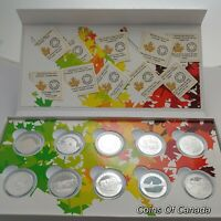 2014 O Canada Set 2 $10 Face Each- 10 Coin Silver Proof Full Set #coinsofcanada