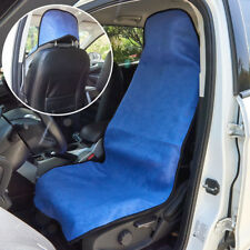 1x Blue Car Van Front Throw Over Seat Cover Slip On Protection Mat Washable