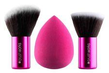 Brushworks Makeup Brushes - HD Complexion Sponge & Kabuki Brush Set