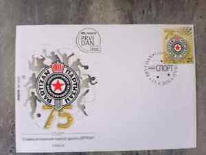 SERBIA FDC -  75th Anniversary of Yugoslav sports club Partizan First Day Cover