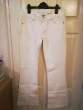 Topshop moto white skinny flare jeans SIZE W30L32