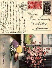 REGNO-Anno Santo 20c(345)+Decennale 10c(350)-Cartolina Roma->Ancona 30.3.1934