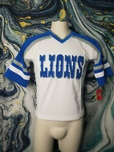 NFL Team Apparel Detroit Lions Youth Size Small 8 10 Jersey T-shirt