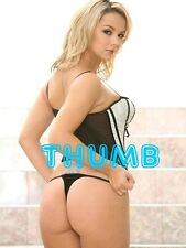 Ashlynn Brooke - 8x6 inch Photograph #161 in Black & White Basque & Thong