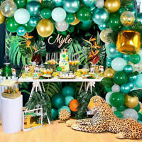 167Pc Jungle Green Balloon Latex Arch Garland Kit Baby Birthday Party Decoration