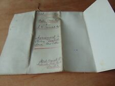 1909 Memo Of Agreement Renting Twyford House