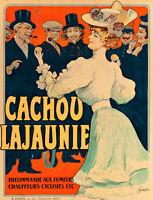 Cachou Lajaunie by Francis Tomagno A1 High Quality Canvas Print