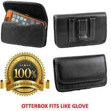 Leather Pouch Cover With Belt Clip / Loop To Hold Otterbox Defender Case