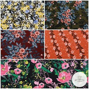 """100% Printed Cotton Linen, Flowers Leaves Petals, Tropical, High Quality 59"""""""