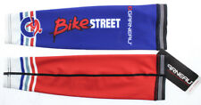 LOUIS GARNEAU Arm Warmers Cycling Running Sleeves Red / Blue Medium NEW