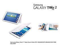 """Samsung Galaxy Tab 2 7"""" Book Cover BIANCO EFC -1 G 5 SWECSTD consegna gratuita Nuovo di Zecca"""